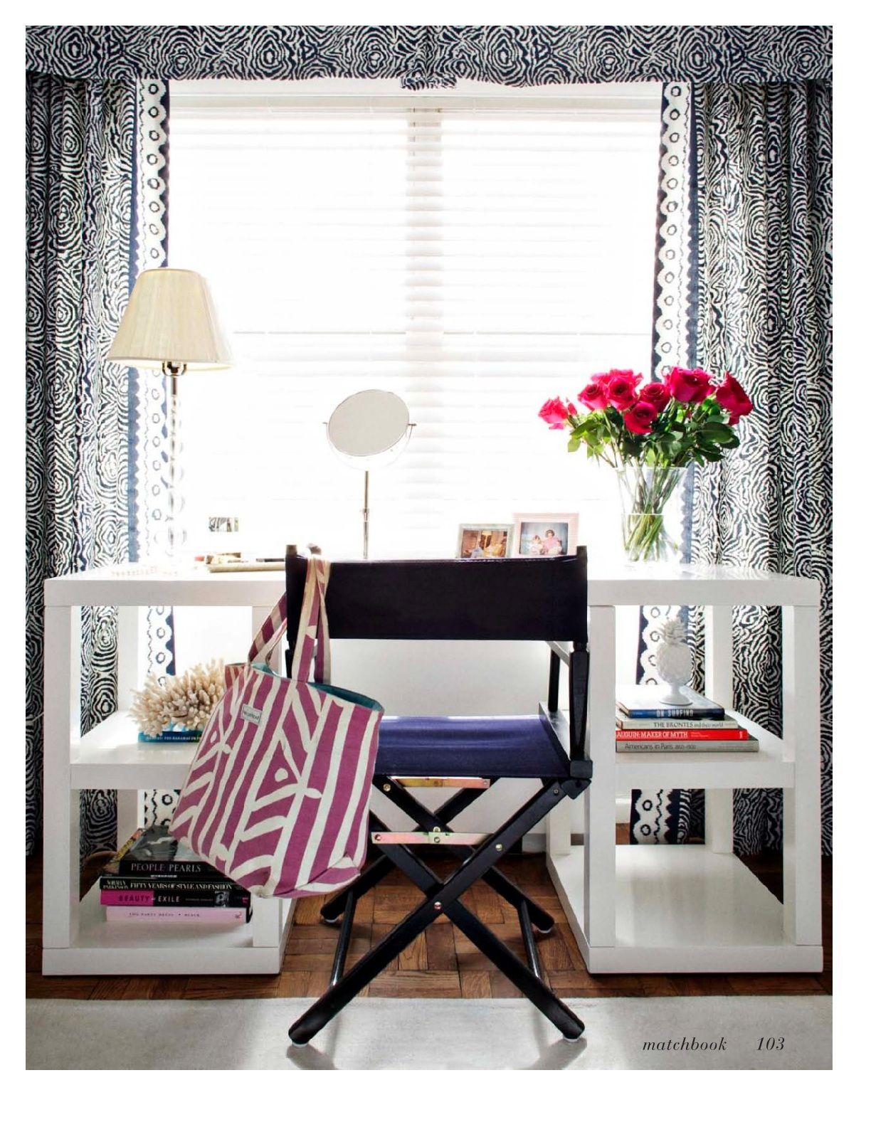Escritorio blanco silla director decoracion estudios - Silla director ikea ...