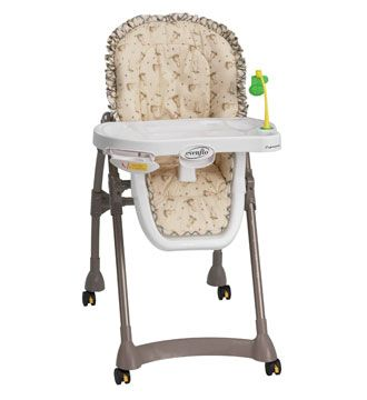 Evenflo Easy Fold High Chair Baby Walking Expressions Seat Pads