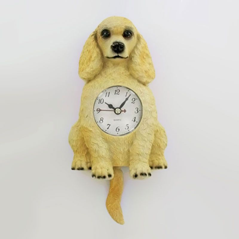 Poodle Dog Novelty Wall Clock with Wagging Tail Pendulum | Clocks ...