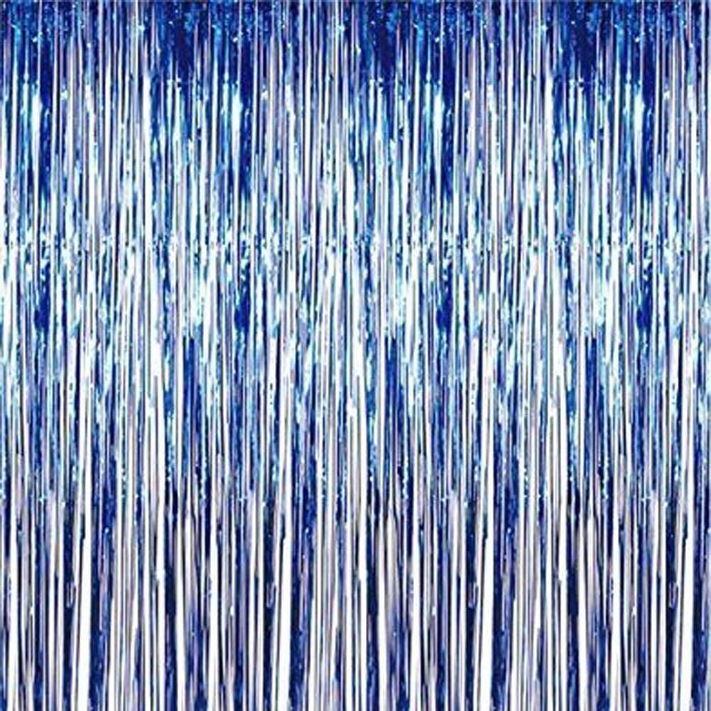 3 X 8 Party Metallic Fringe Foil Shimmer Curtain Birthday