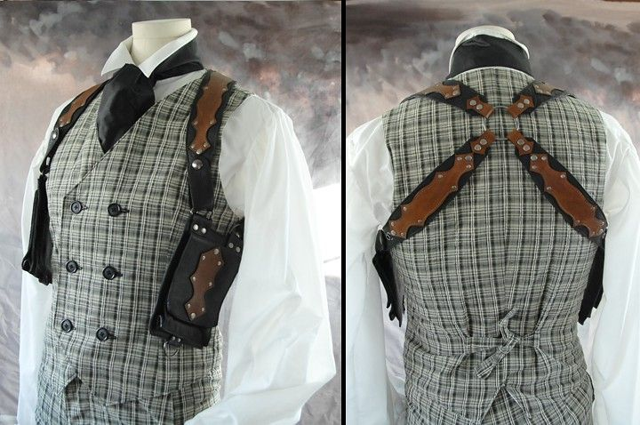Steampunk Gentleman costume in green.