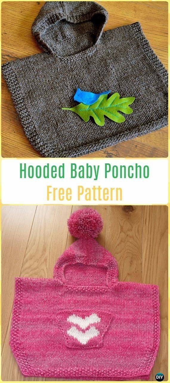 Photo of #babyponcho Knit Hooded Baby Poncho Kostenloses Muster – Knit Baby … – Häkeln …