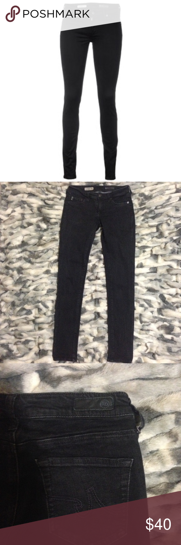 "AG Jeans Jegging Super Skinny Fit Black AG Jeans Jegging Super Skinny Fit Black...sz 26R ..Inseam 29""..Excellent condition AG Adriano Goldschmied Jeans"