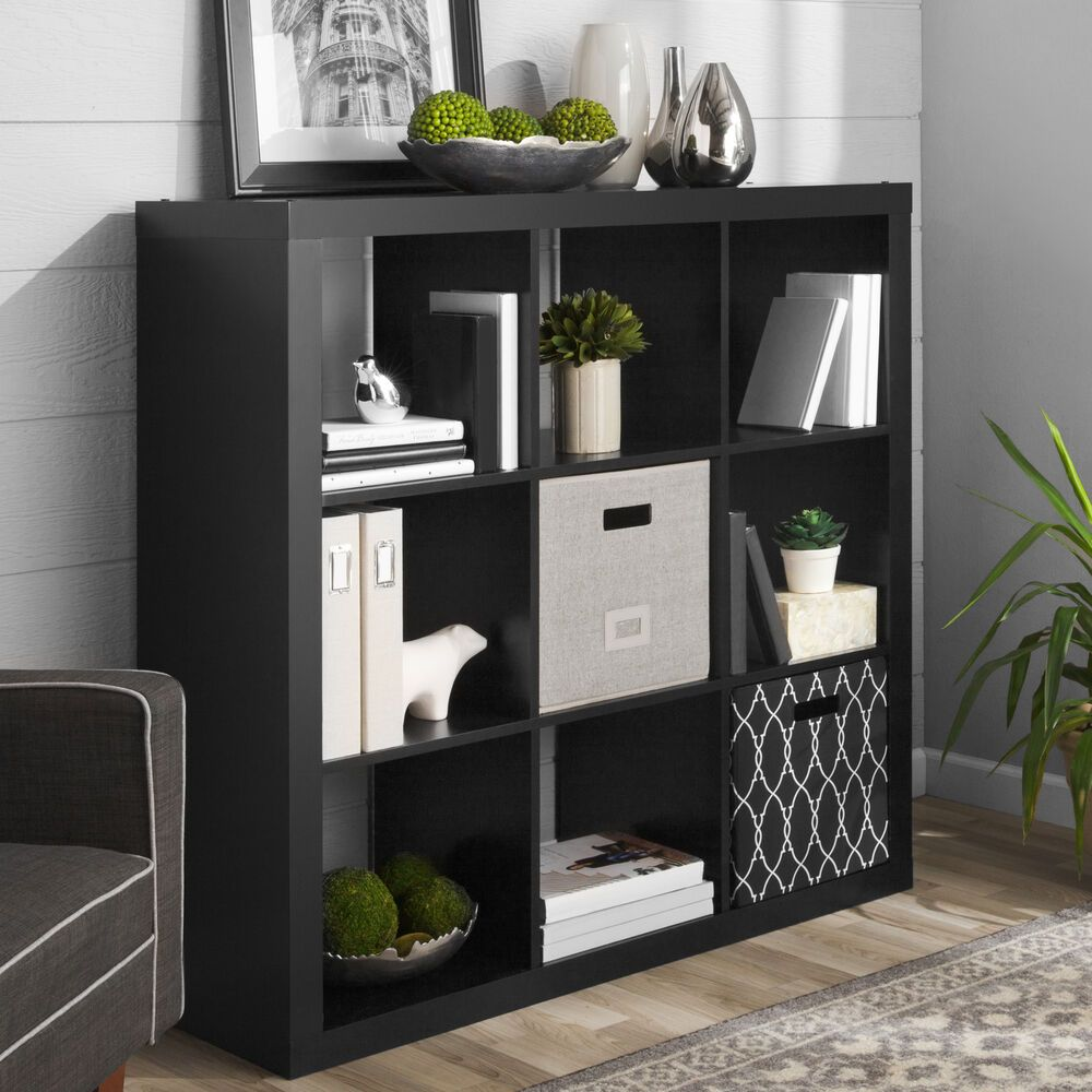 9 Cube Storage Organizer Stylish Organizer And Bookcase Solid Black Qrginizers Cube Storage Decor Cube Storage Bookshelf Decor