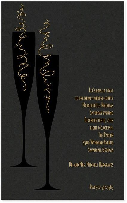 sparkling spirits invitation newyearseve holiday party invitation