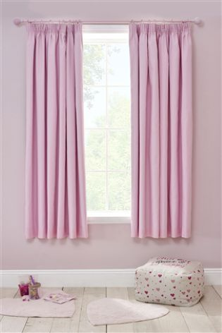 Cotton Blackout Pencil Pleat Curtains From The Next Uk Online Childrens