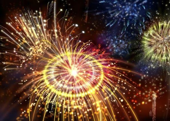 Bonfires and Fireworks light up the sky