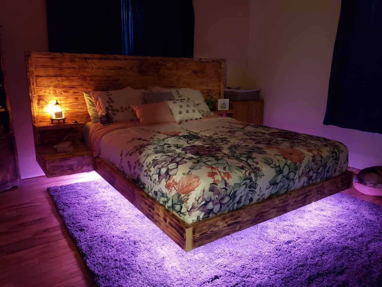 Floating Bed Bedroom Bed Design Floating Bed Frame Bed Frame Plans