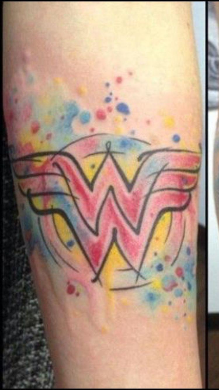 Flaming art tattoo for geek tattoo lovers this kind of batman - Wonder Woman Logo Tattoo More