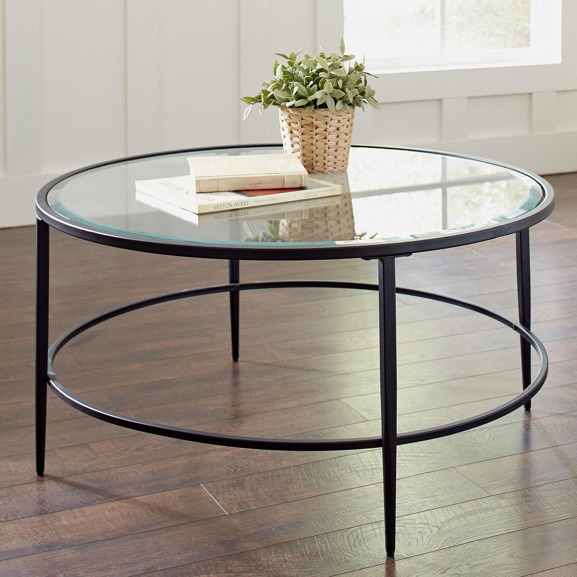 Glass Circle Coffee Table Basement Pinterest Coffee Glass and