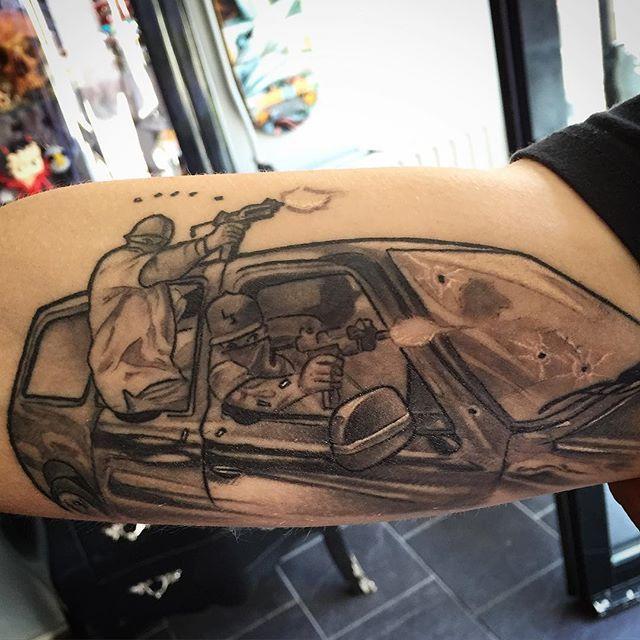 Chicano Tattoos, V Tattoo