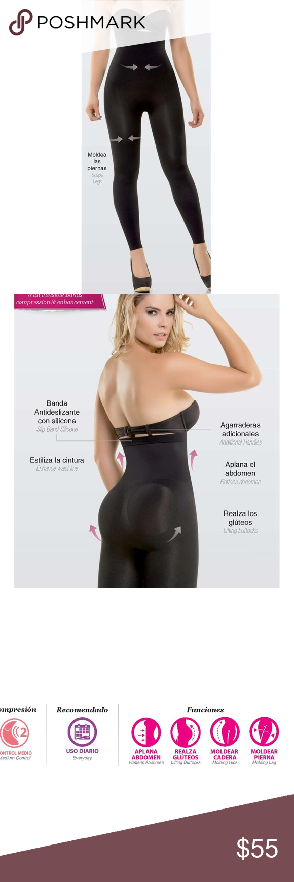 608b13b1c Strapless Underbust Ultra Slimming Leggings L XL Brand New 100% Colombian  Firm Price Size L XL FAST SHIPPER 3-5 DAY DELIVERY! ○ The all-over coverage  of ...