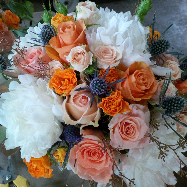 Pop Floral in Tangerine