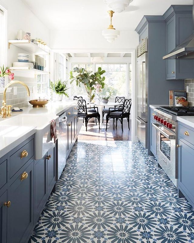 New Kitchen Flooring Ideas: Crushing On This Kitchen Floor And This Beautiful Design
