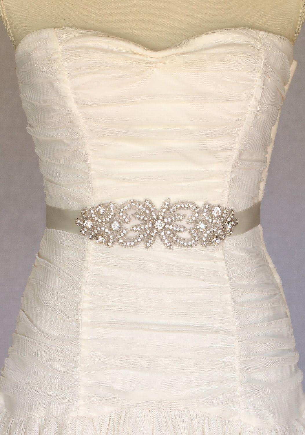 Bella Bridal Belt Sash Wedding Dress By Amienoeldesigns 58 00