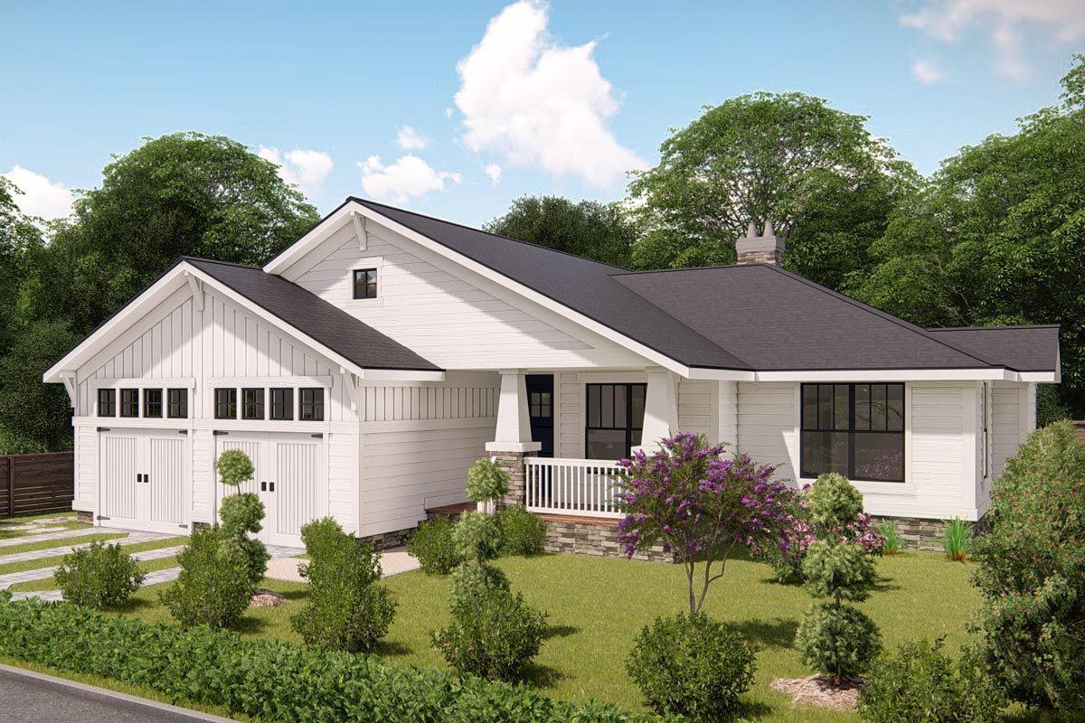Plan 25402tf Modern Prairie Pleaser Architectural Design House Plans House Plans Floor Plans Ranch
