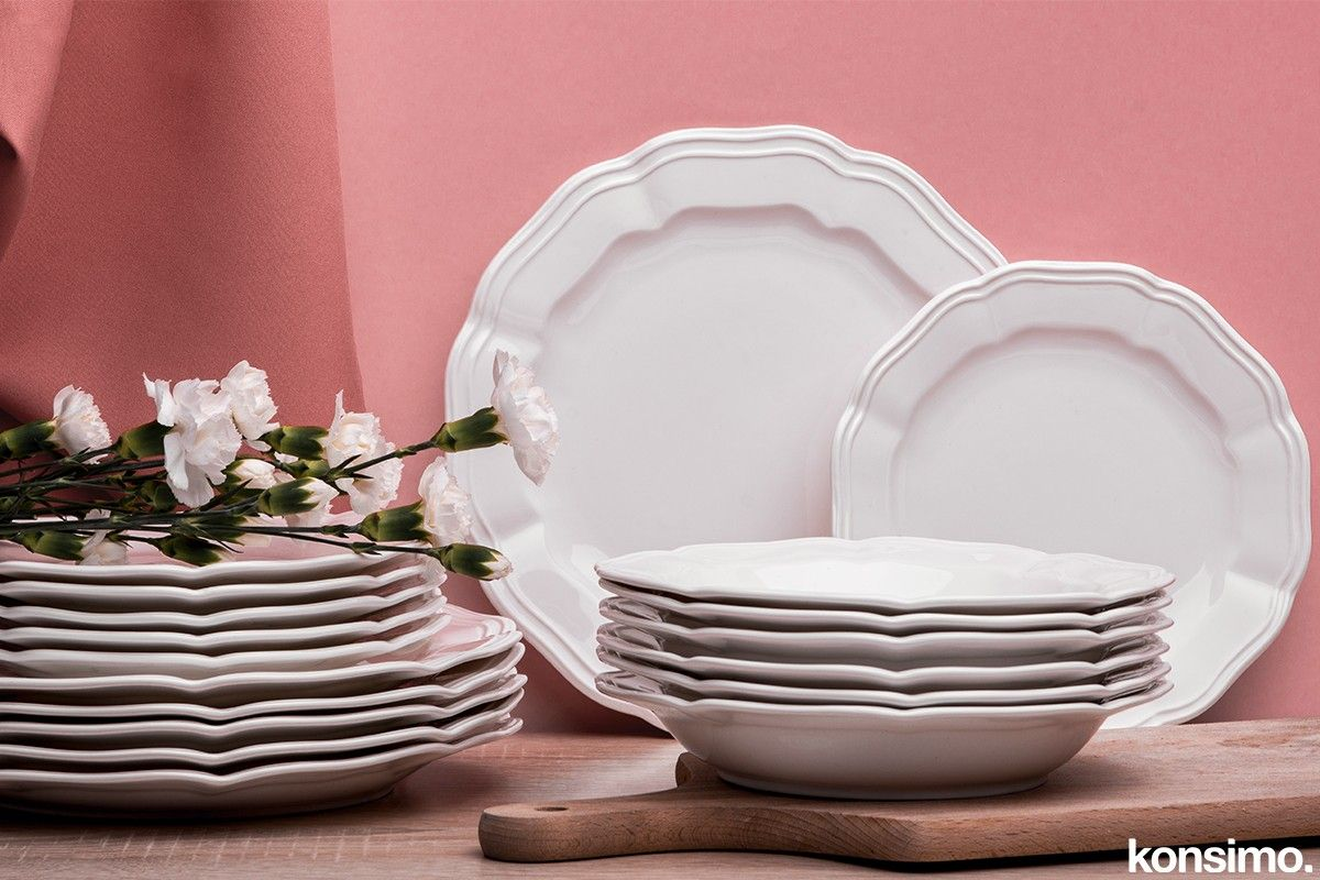Avena Zestaw Obiadowy 6 Os 18el Salony Design Porcelana