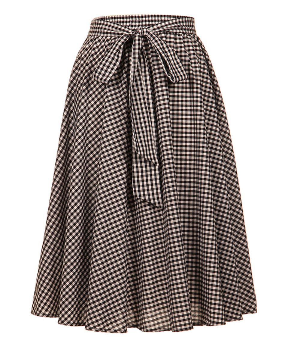 f26cf3ca68d2 This Fashionomics Black & White Check A-Line Skirt - Plus by Fashionomics  is perfect! #zulilyfinds