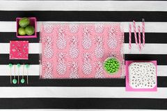Laura Dro Designs New Lucite Tray patterns A Pineapple a Day Pattern Acrylic Lucite Tray-12x12  www.lauradrodesigns.com