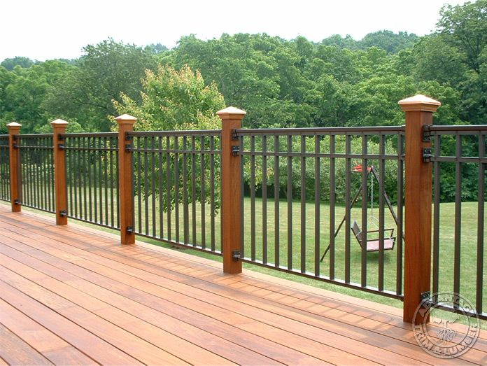 Best Steel Panels For Rail Deck Post Caps Deck Posts Deck 640 x 480