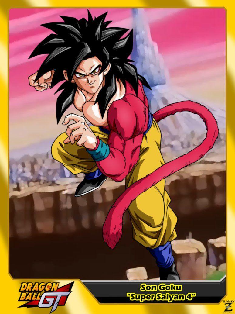 Dragon Ball Gt Son Goku Super Saiyan 4 By Https Www Deviantart Com El Maky Z On Deviantart Dragon Ball Super Manga Dragon Ball Image Goku Super Saiyan