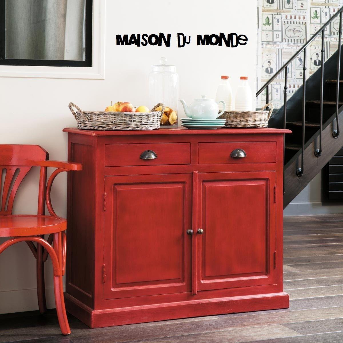 Buffet Rouge Gascogne Maison Du Monde Atelier Meuble Indus Mobilier De Salon Decoration Cuisine Idees De Meubles