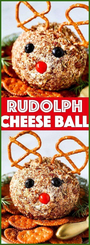 Rudolph Cheese Ball Recipe – No Pencil ; rudolph cheese ball reze… appetierz christmas appetier