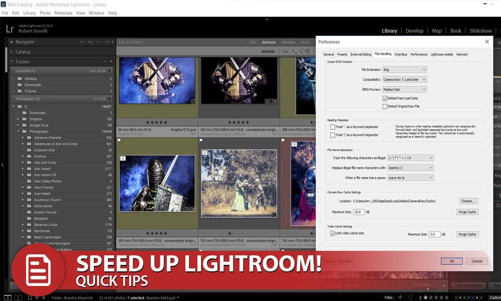 How to speed up lightroom
