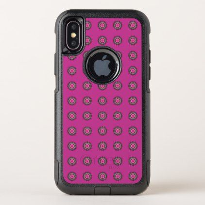 Pink Multicolored Dots OtterBox Commuter iPhone X Case - girly gift gifts ideas cyo diy special unique