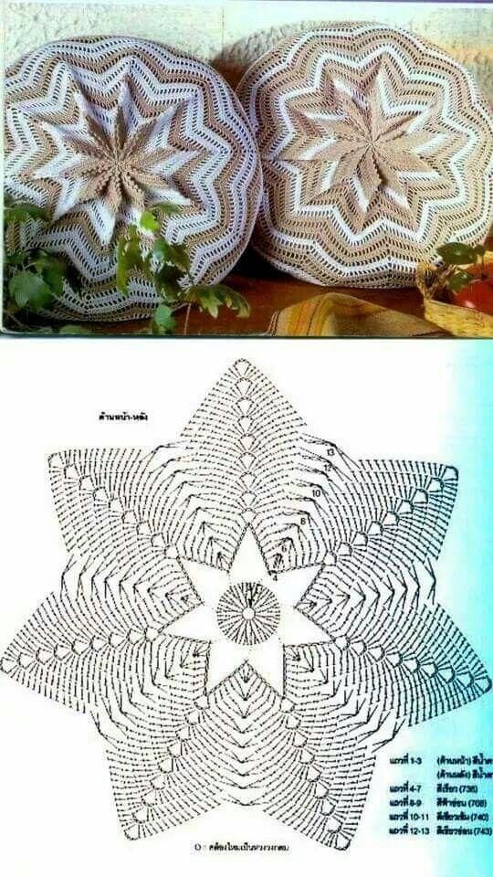 Crochet chevron pillow | crochet | Pinterest | Croché, Ganchillo and ...