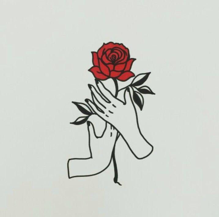 7e128f3cb89c28c817ab46de10122dff » Aesthetic Rose Drawing
