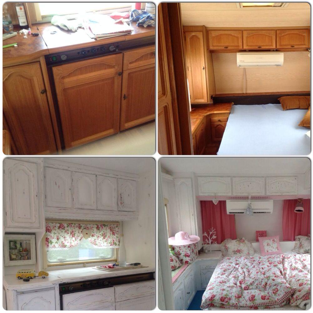 diy shabby wohnwagen upcycled caravan caravan caravans und motorhome living. Black Bedroom Furniture Sets. Home Design Ideas