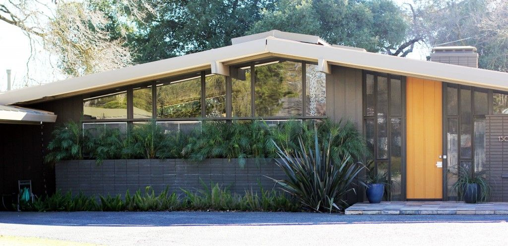 Amazing Open Wide Glass Exterior Landscaping As Mid Century Modern Homes  Ideas With Sloping Roofs Decoration Exterior Designs. MCM Home Sacramento  SOTR    Midcentury modern ideas   Pinterest
