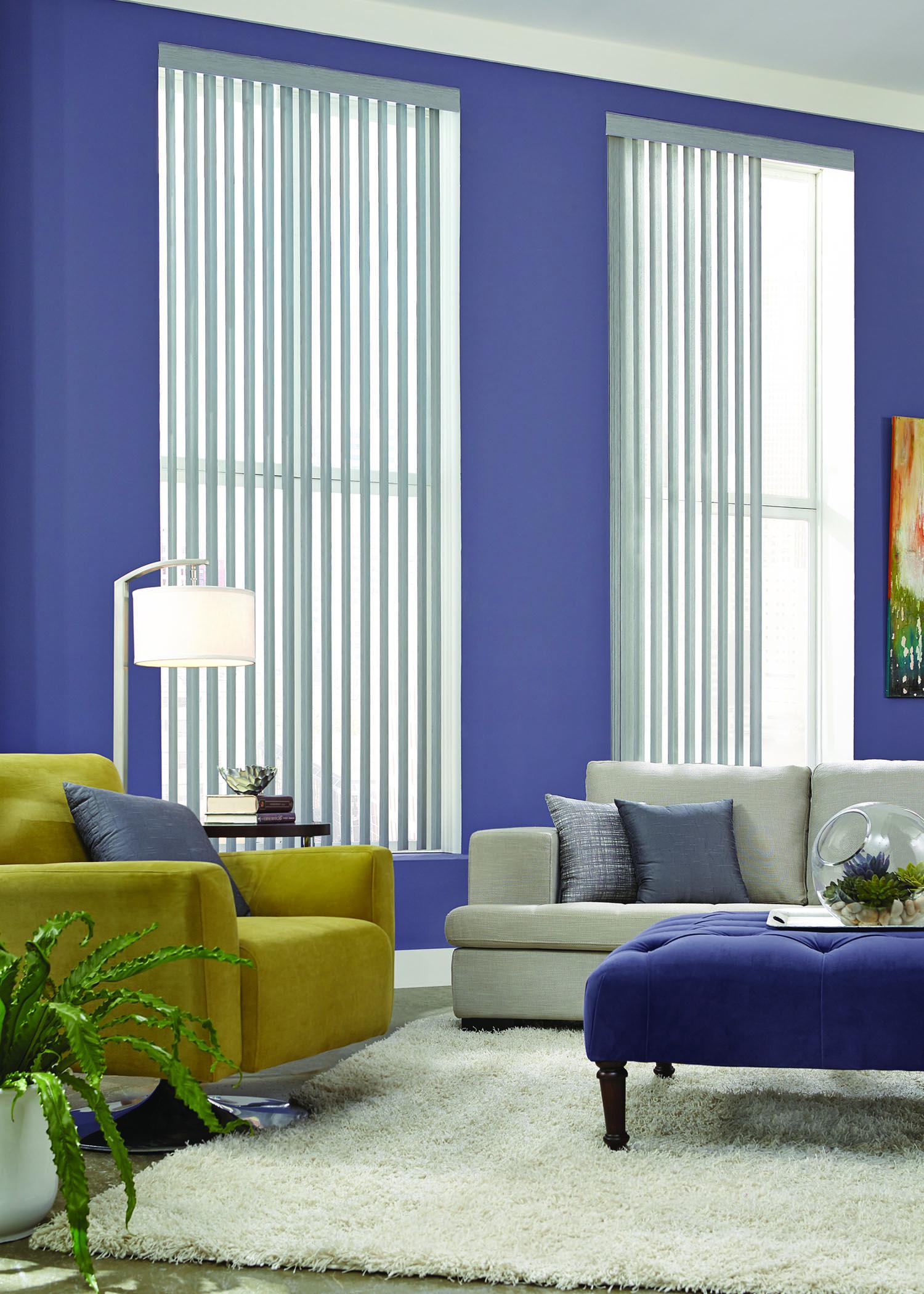Graber Vinyl Vertical Living Living Room Windows Window Treatments Living Room Purple Living Room
