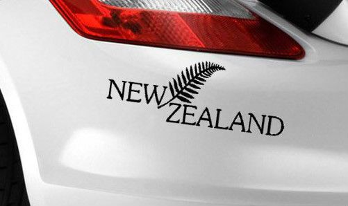 New zealand fern car decal sticker label window bumper sticker decal