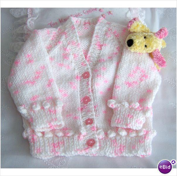 Hand knitted babies cardigan | crochet | Pinterest | Sacos para ...