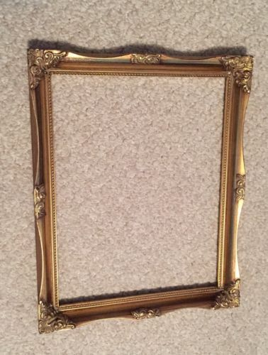 Shopcardinalcom Picture Frame Ornate Bright Gold Wood 12 X 15