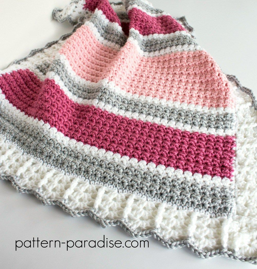 Free Crochet Pattern: Essentials Baby Blanket | Mantas | Pinterest ...