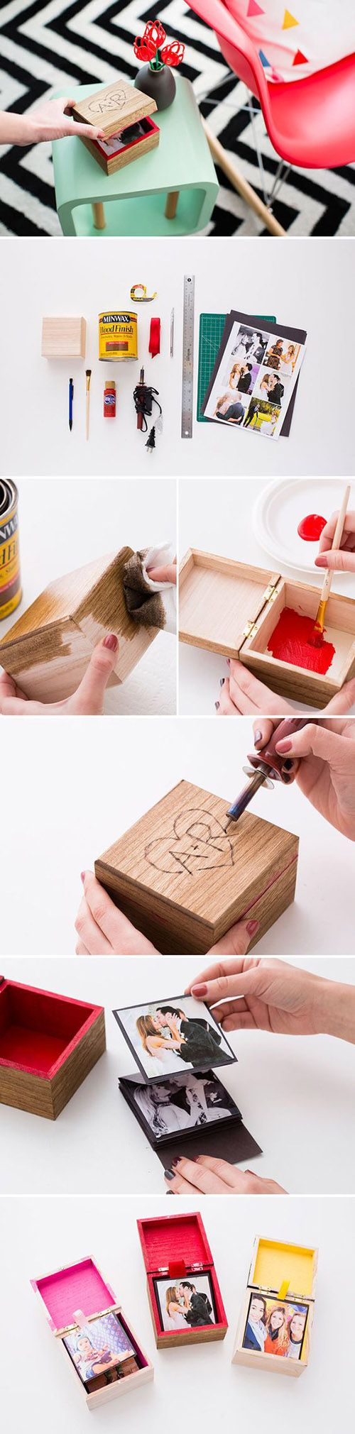 popup photo box adced diy and crafts pinterest photo