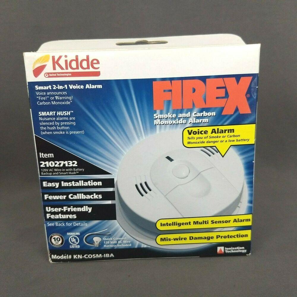 Kidde Smoke Carbon Monoxide Alarm Kn C0sm Iba 120v Ac Battery