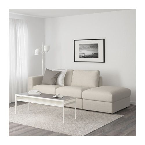 Vimle Sofa With Open End Gunnared Beige Ikea