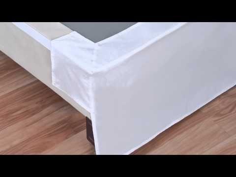 Wonder Skirt Wrap Around Bed Skirt At Bed Bath Beyond Youtube
