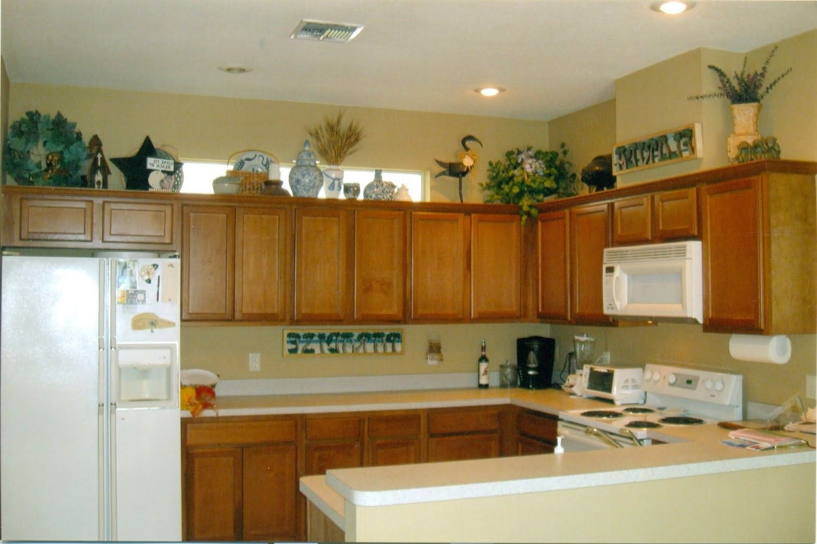 Decorate Above Kitchen Cabinets Natural   Kitchen cabinet styles ...