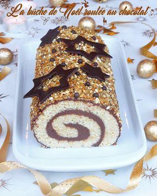 Bûche de Noël roulée au chocolat facile et rapide {vegan} - Perle en sucre