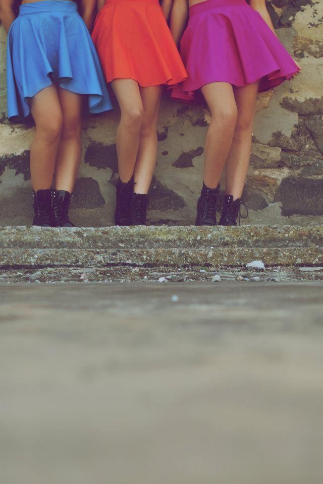 Beautiful Blue, Orange and Pink Skirts