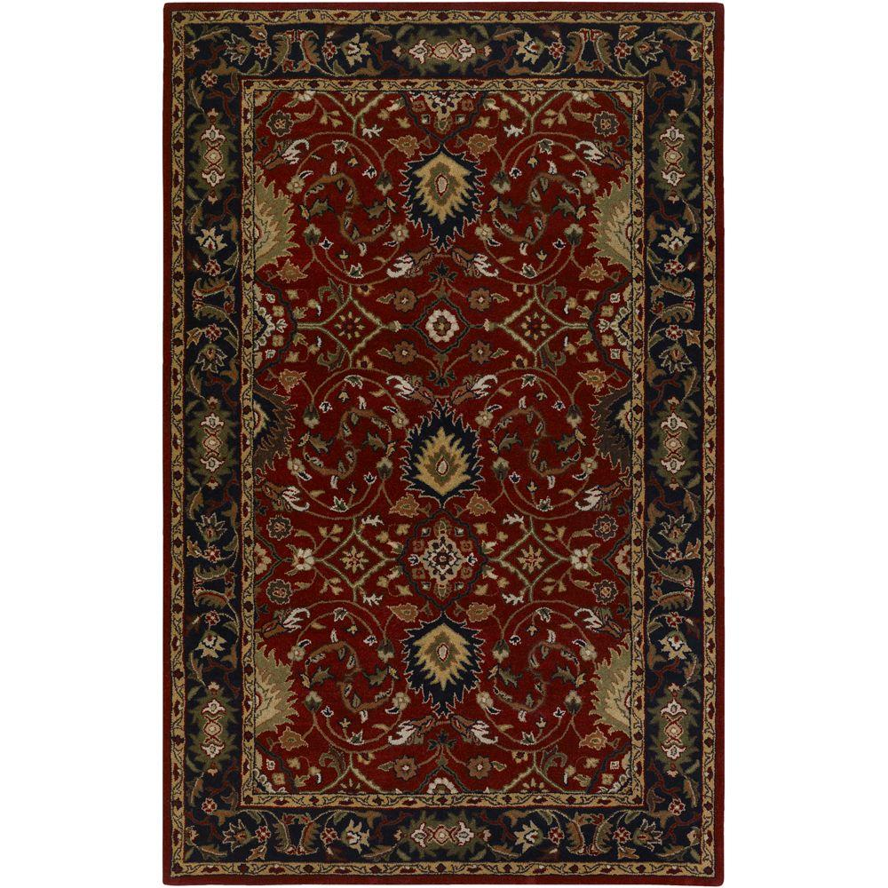 Artistic Weavers John Red 12 Ft X 15 Ft Area Rug S00151006396 The Home Depot Wool Area Rugs Area Rugs Artistic Weavers