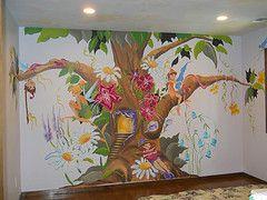 Fairy Tree Mural Painted By Arlene Mcloughlin Fairy Mural Mural