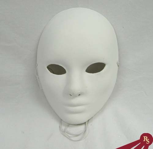Plain Masks To Decorate Full Face Paper Mache Craft Mask With Plain White Finish  Add