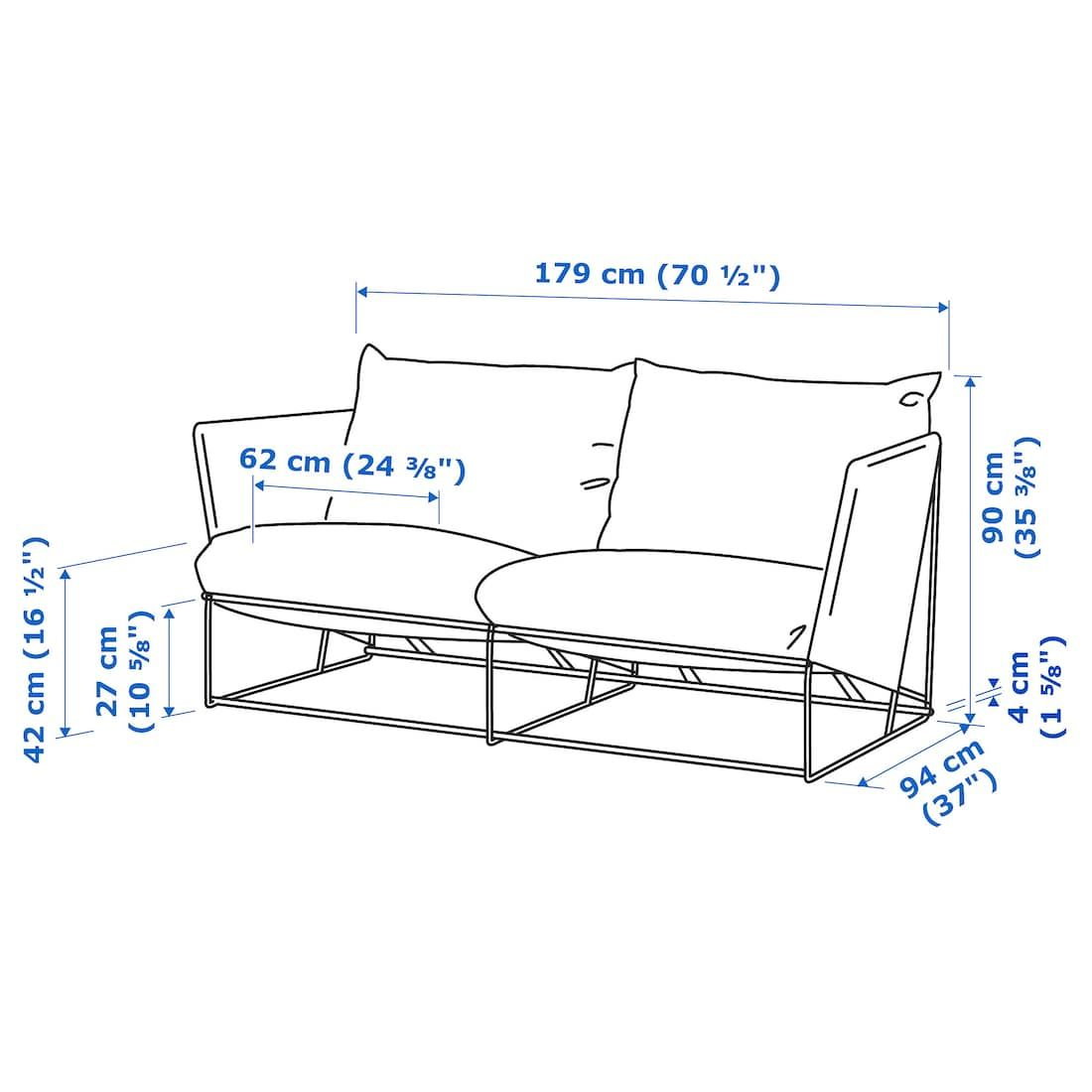Havsten Loveseat In Outdoor Beige Ikea In 2020 Ikea Love Seat Outdoor Seat Pads