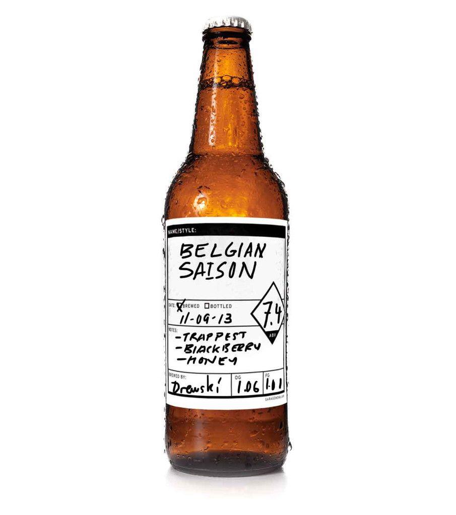erasable keg bottle labels at garagemonk com beer pinterest